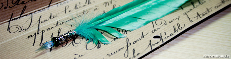 Quill and writing